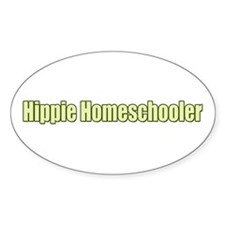 Hippie Homeschooler Oval Decal