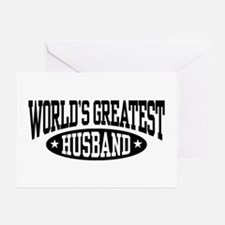 World's Greatest Husband Greeting Cards (Pk of 10)