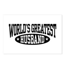 World's Greatest Husband Postcards (Package of 8)