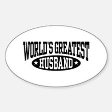 World's Greatest Husband Oval Decal