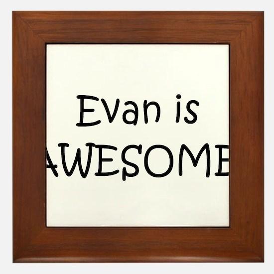 Unique Evan Framed Tile