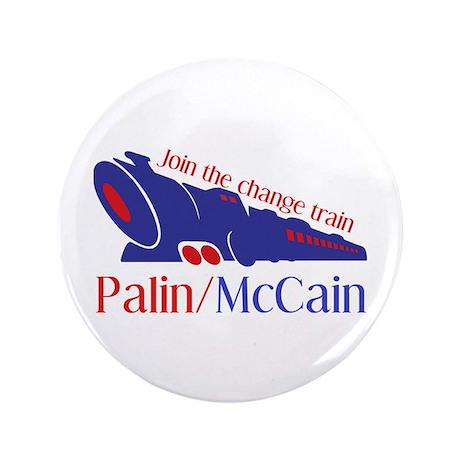 """McCain Train 3.5"""" Button"""