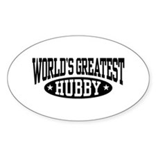 World's Greatest Hubby Oval Decal