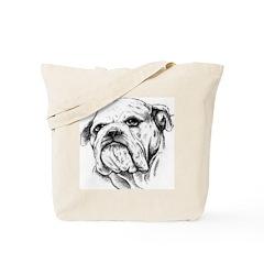 Drawn Head Tote Bag