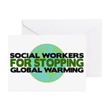Social Workers Stop Global Warming Greeting Cards