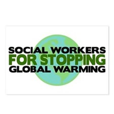Social Workers Stop Global Warming Postcards (Pack