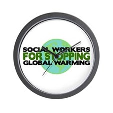 Social Workers Stop Global Warming Wall Clock