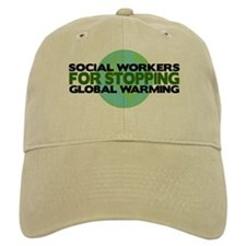 Social Workers Stop Global Warming Baseball Cap