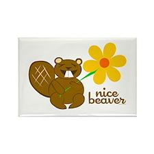 Nice Beaver Rectangle Magnet