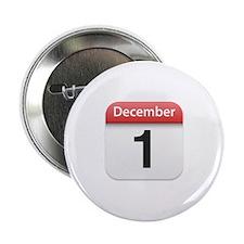 "Apple iPhone Calendar December 1 2.25"" Button"