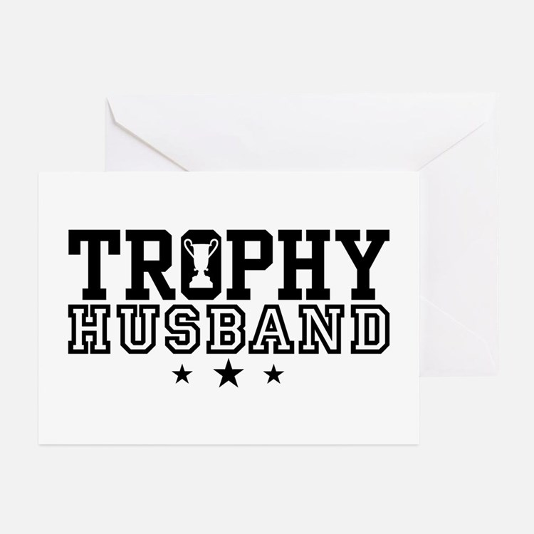 Trophy Husband Greeting Cards (Pk of 10)