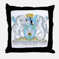 Isle of Wight Coat of Arms Throw Pillow