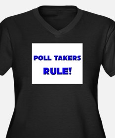Poll Takers Rule! Women's Plus Size V-Neck Dark T-