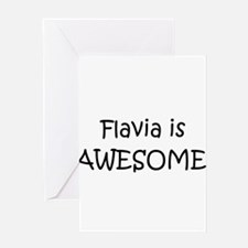 Flavia Greeting Card