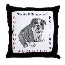 Bulldogsworld Throw Pillow