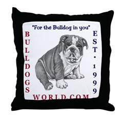 Bulldogsworld Throw Pillow