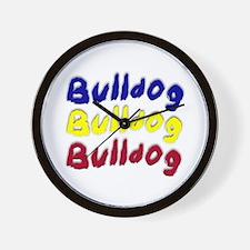 Cute Bulldogsworld Wall Clock