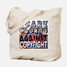 Scary Clowns Against Copyrigh Tote Bag