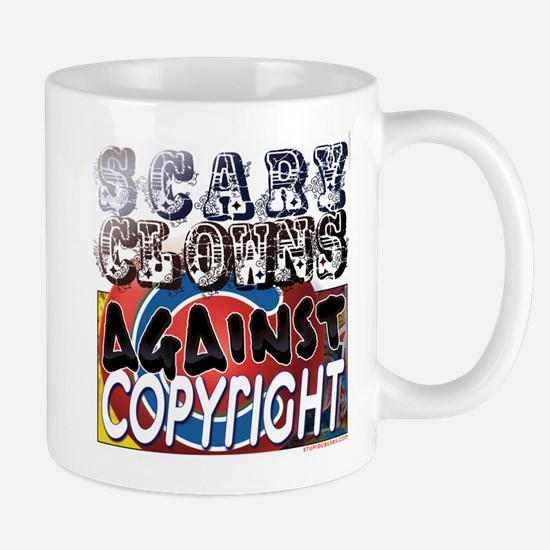 Scary Clowns Against Copyrigh Mug