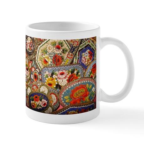 Floral Italian Mosaic Jewelry Mug