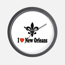 Luv New Orleans Wall Clock