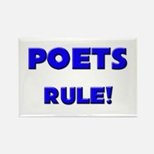 Poets Rule! Rectangle Magnet