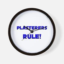 Plasterers Rule! Wall Clock