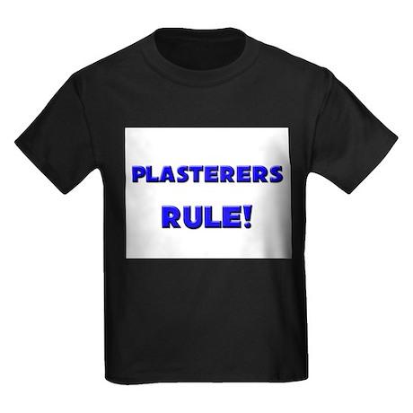 Plasterers Rule! Kids Dark T-Shirt