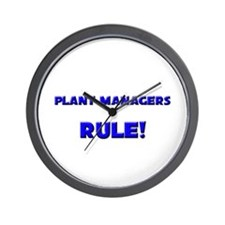 Plant Managers Rule! Wall Clock