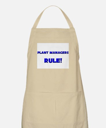 Plant Managers Rule! BBQ Apron
