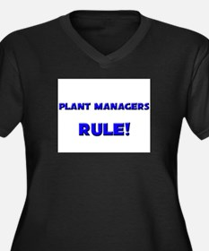 Plant Managers Rule! Women's Plus Size V-Neck Dark