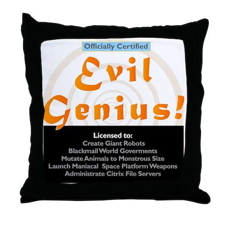 Funny Evil Genius Citrix TShi Throw Pillow
