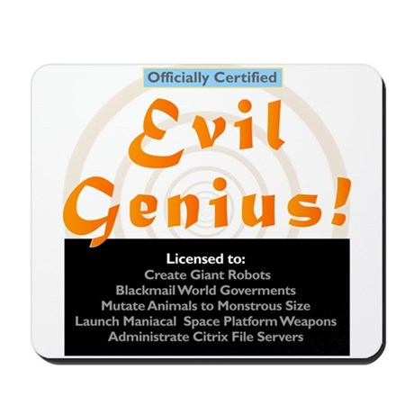 Funny Evil Genius Citrix TShi Mousepad