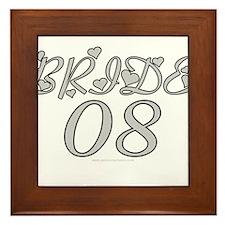 Bride 08 Heart Framed Tile