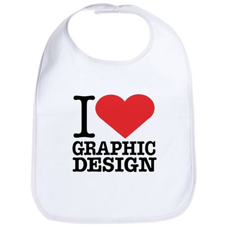 I Heart Graphic Design Bib
