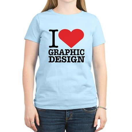 I Heart Graphic Design Women's Light T-Shirt