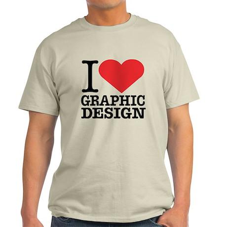 I Heart Graphic Design Light T-Shirt