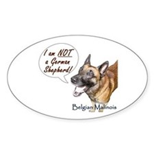 I'm not a German Shepherd! Oval Decal