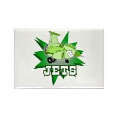 Jets Rectangle Magnet (100 pack)