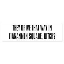 """""""Tiananmen Square"""" Bumper Bumper Bumper Sticker"""