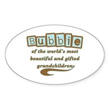 Bubbie of Gifted Grandchildren Oval Decal