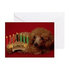 Kwanzaa Poodle Greeting Cards (Pk of 10)