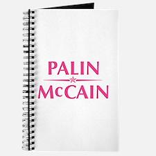 Palin McCain Pink Text Journal