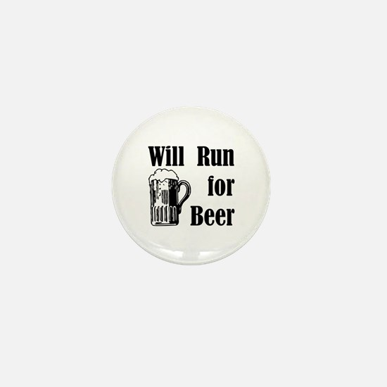 Will Run for Beer Mini Button (10 pack)