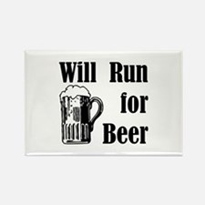 Will Run for Beer Rectangle Magnet (100 pack)