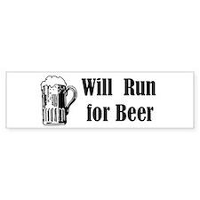 Will Run for Beer Bumper Bumper Sticker