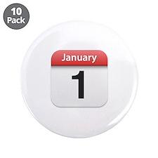 "Apple iPhone Calendar January 1 3.5"" Button (10 pa"