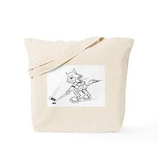 Ice Hockey Cat Tote Bag