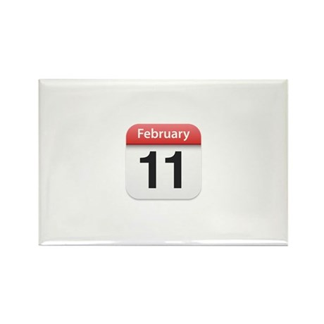 Apple iPhone Calendar February 11 Rectangle Magnet
