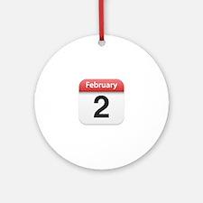 Apple iPhone Calendar February 2 Ornament (Round)